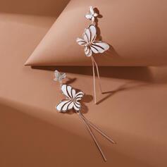 W kształcie motyla Uroczy Stop Kolczyki 2 szt
