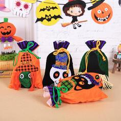 Piękny Przerażające Rysunek Halloween Szkielet Tkanina Torby ze słodyczami