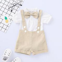 2-częściowy niemowlę Kokarda Jednolity Bawełna Ustaw Rozmiar