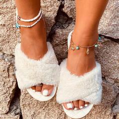 Dla kobiet Skóra ekologiczna Płaski Obcas Sandały Plaskie Kapcie Z Pozostałe obuwie
