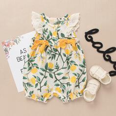 Dziewczynki 0-24mc Kwiatowy Nadruk Bawełna Suknia
