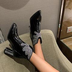 Dla kobiet Skóra ekologiczna Obcas Slupek Botki obuwie