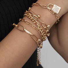 Fashionable Sexy Vintage Classic Alloy With Gold Plated Butterfly Women's Ladies' Bracelets 6 PCS