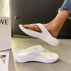 Dla kobiet EVA Płaski Obcas Sandały Plaskie Japonki Kapcie Z Jednolity kolor obuwie