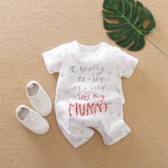 niemowlę Wytłaczany Nadruk Bawełna Jednoczęściowe
