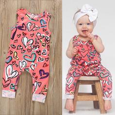 Baby Heart Print Cotton Jumpsuit
