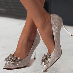 Dla kobiet PU Obcas Stiletto Czólenka Obcasy Z Stras/ Krysztal Górski Byszczący brokat Jednolity kolor obuwie