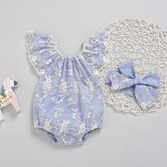 2-pieces Baby Girl Floral Lace Cotton Set