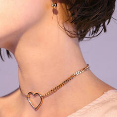 Simple Alloy With Heart Women's Necklaces 1 PC