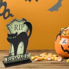 Kolorowe gotyk Przerażające Naścienny Czarny kot Drewniany Rekwizyty na Halloween Dekoracje na Halloween (Sprzedawane w jednym kawałku)