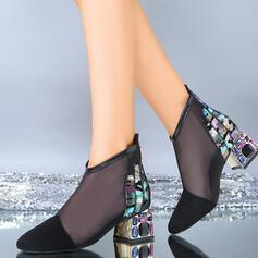 Dla kobiet Tkanina mesh Obcas Slupek Czólenka Zakryte Palce Z Tkanina Wypalana obuwie