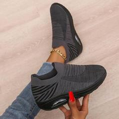Dla kobiet Material Tkanina mesh Płaski Obcas Plaskie Tenisówki Z Kolor splotu obuwie