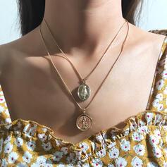 Boho Warstwowe Stop Z Moneta Zestawy biżuterii Naszyjniki Kolczyki Komplet 2