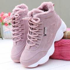 Dla kobiet PU Płaski Obcas Plaskie Tenisówki Z Sznurowanie Jednolity kolor obuwie