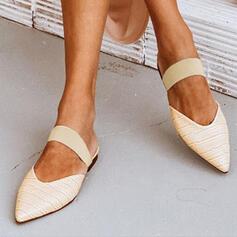 Dla kobiet PU Płaski Obcas Plaskie Z Tkanina Wypalana Elastyczna taśma obuwie