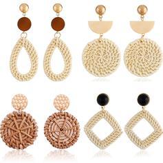 Wyjątkowy Znakomity Szykowny Stop Włókienniczy Kolczyki Biżuteria plażowa (Zestaw 4 par)