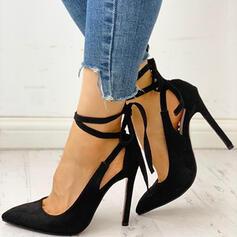 Dla kobiet PU Obcas Stiletto Spiczasty palec u nogi Z Sznurowanie obuwie