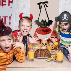 Kolorowe gotyk Przerażające Naścienny Nietoperz Halloween Drewniany Rekwizyty na Halloween Dekoracje na Halloween (Sprzedawane w jednym kawałku)