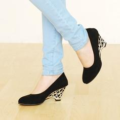 Women's PU Wedge Heel Pumps Closed Toe Wedges With Others shoes