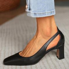 Dla kobiet PU Obcas Slupek Czólenka Obcasy Z Tkanina Wypalana Jednolity kolor obuwie