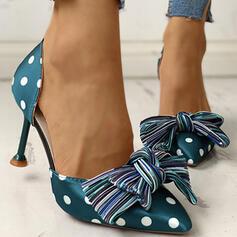 Dla kobiet PU Niski Obcas Czólenka Spiczasty palec u nogi Z Kokarda obuwie