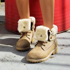Dla kobiet PU Obcas Slupek Martin Buty Round Toe Z Sznurowanie obuwie