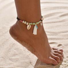Modny Boho Stop Kryształ Lina pleciona Z Frędzle Powłoka Biżuteria plażowa Obrączki