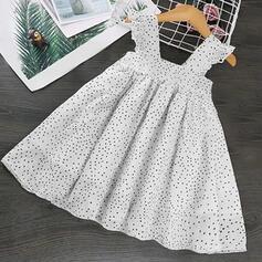 Dziewczynki 2-5lat Żabot Polka Dot Nadruk Suknia