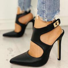 Dla kobiet PU Obcas Stiletto Spiczasty palec u nogi Z Klamra obuwie