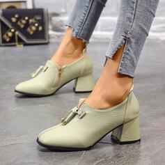 Dla kobiet PU Obcas Slupek Spiczasty palec u nogi Z Sznurowanie obuwie