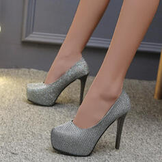Dla kobiet PU Obcas Stiletto Czólenka Z Cekin Jednolity kolor obuwie