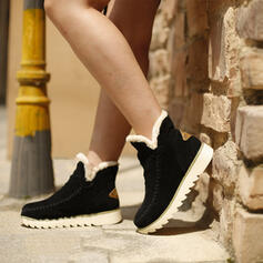 Dla kobiet Zamsz Płaski Obcas Plaskie Z Kolor splotu obuwie