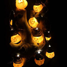 Przerażające Halloween Dynia Plastikowy Dekoracje na Halloween Światła łańcuchowe Komplet 10