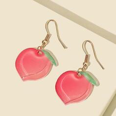 Fruit Alloy Acrylic With Fruit Women's Earrings 2 PCS