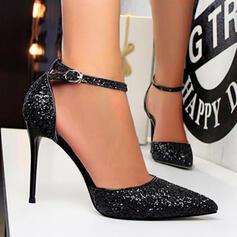 Dla kobiet Byszczący brokat Obcas Stiletto Czólenka Z Jednolity kolor obuwie