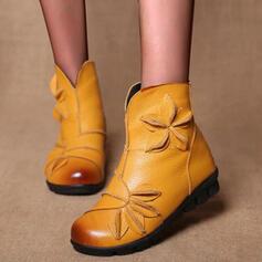 Dla kobiet Skóra ekologiczna Płaski Obcas Plaskie Z Tkanina Wypalana Kolor splotu obuwie