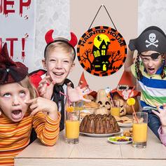 Kolorowe gotyk Przerażające Naścienny Halloween Czarownica Drewniany Rekwizyty na Halloween Dekoracje na Halloween (Sprzedawane w jednym kawałku)