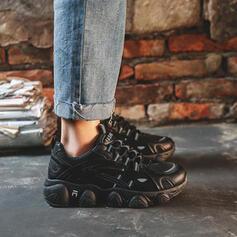 Dla kobiet Material Płaski Obcas Plaskie Tenisówki Z Sznurowanie Jednolity kolor obuwie