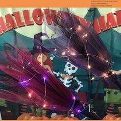 Piękny Przerażające Rysunek Halloween Poliester Rekwizyty na Halloween