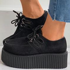 Dla kobiet Zamsz Płaski Obcas Plaskie Z Nadruk Zwierzęcy Sznurowanie obuwie