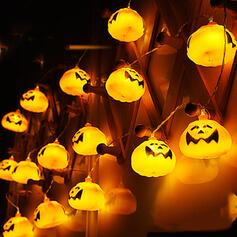 Przerażające Halloween Dynia Plastikowy Dekoracje na Halloween Światła łańcuchowe Komplet 16