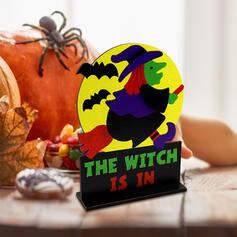 Kolorowe gotyk Przerażające Naścienny Czarownica Drewniany Rekwizyty na Halloween Dekoracje na Halloween (Sprzedawane w jednym kawałku)