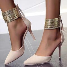 Dla kobiet Zamsz Obcas Stiletto Czólenka Z Zamek błyskawiczny obuwie