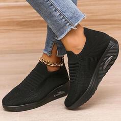 Dla kobiet Material Tkanina mesh Płaski Obcas Plaskie Tenisówki Z Sznurowanie Elastyczna taśma Wydrukować obuwie