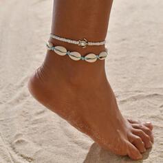 Szykowny Shell Shaped Stop Z Żółw Biżuteria plażowa Obrączki