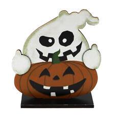 Kolorowe gotyk Przerażające Naścienny Duch Dynia Drewniany Rekwizyty na Halloween Dekoracje na Halloween (Sprzedawane w jednym kawałku)