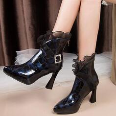 Dla kobiet Skóra ekologiczna Obcas Stiletto Botki obuwie