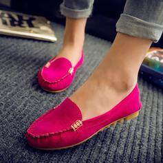 Dla kobiet PU Płaski Obcas Plaskie Round Toe obuwie