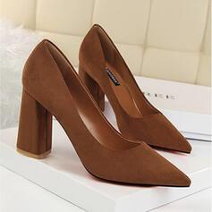 Dla kobiet Zamsz Obcas Slupek Czólenka Z Jednolity kolor obuwie