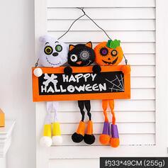 Piękny Przerażające Rysunek Halloween Czarny kot guma Wall Art